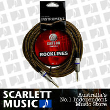 CARSON 10 Foot Guitar Lead / Instrument Cable *NEW* Noiseless Braided Tweed
