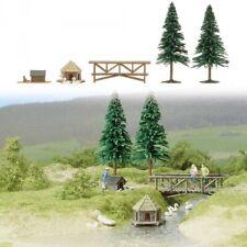 Ponte + 2 Alberi H0 Scale 1:87 Diorama Model 6010 BUSCH
