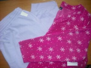 Womens NWT PLUS LS Fleece Top/Jogger Pants PJ Lounge Purple Pink Snowflakes 3X