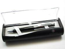 Sheaffer 300 Portamina En Negro Satinado Y Cromado Moldura & caja de presentación