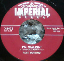 """*<* SALE! FATS DOMINO 1957 #4 """"I'M WALKIN/I'M IN THE MOOD FOR LOVE"""" CLEAN M- 45!"""