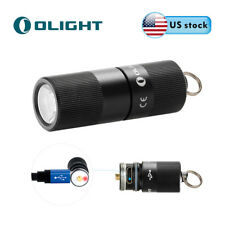 Olight i1R EOS 130Lumen EDC Rechargeable LED Keychain Light w/ Battery and Cable