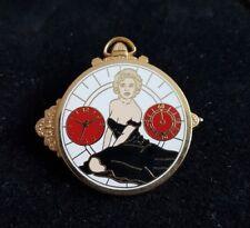 Rare pins pin's montre watch Marilyn monroe pin up numéroté 800 ex or ballard