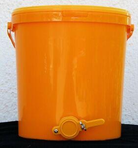25kg Abfülleimer Honigeimer Quetschhahn Honig abfüllen Honigernte Imkerei Hobook