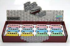 "12PC BOX: 2.5"" Kinsmart 1962 VW Volkswagen Bus Diecast Model Toy Car 1:64 Pastel"