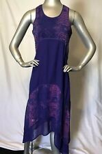 Patterson J Kincaid Violet Snake Print Midi Shift Dress Size XS