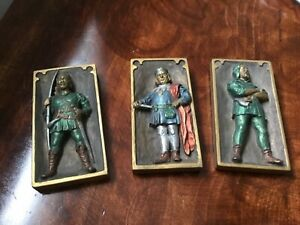 Vintage Marcus Designs, hand made in England , 3-d Robin Hood plaques