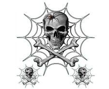 Lethal Threat Black Widow Skull Sticker Graphic for Yamaha Dirt Bikes