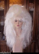 SIN CITY WIGS DRAG QUEEN DANCER BIG FLUFFY HAIR LONG TEASED VOLUME THICK WHITE