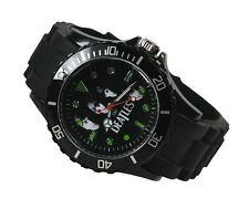 THE BEATLES Fashion Metal Black Silicone Watch Wrist