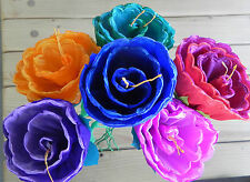 Mexican Paper Flowers Set of 6 Multicolor