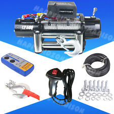 Classic 12500lbs 12V Electric Recovery Winch Truck SUV Durable Remote Control