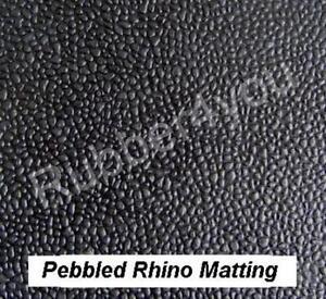 Pebbled RHINO Garage Gym Van Shed Workshop Rubber Flooring Matting 1.2m x 3mm