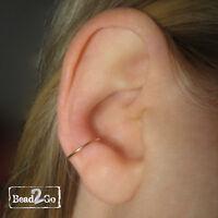 Gold Fake Conch Cuff- Faux Gold Conch Ear Ring- Ear Cuff- Fake Body Piercing