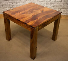JALI SHEESHAM INDIAN ROSEWOOD WOOD 90 x 90cm DINING TABLE - LEGS DETACHABLE