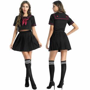 Unifome Scolaire Cosplay Schoolgirl Sailor Femme Déguisement Écolière Costume