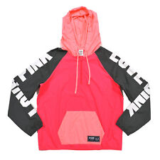 Victoria's Secret Pink Windbreaker Hoodie Half Zip Pullover Rain Jacket Graphic