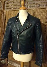 lewis leathers vintage GT Monza blue leather cafe racer biker   jacket