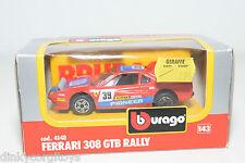 BBURAGO BURAGO 4148 FERRARI 308GTB 308 GTB RALLY RED MINT BOXED