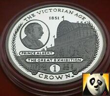 2001 Gibraltar uno 1 Corona Plata Prueba Moneda Príncipe Alberto edad victoriana