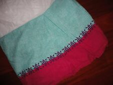"Target Xhilaration Bohemian Floral Pink Turquoise Twin Bedskirt 14"" Split"