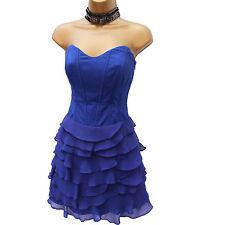 KAREN MILLEN LAYERED RUFFLE SILK ORGANZA PURPLE PROM COCKTAIL DRESS UK 10