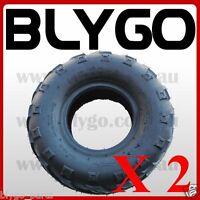 "2X QIND 4PLY 145/70 - 6"" inch Front Rear Tyre 90 110cc Quad Dirt Bike ATV Buggy"