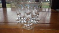 Elegant Wine Glasses Juice Glasses stems hand painted floral swag design 6 6oz