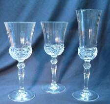 Aurea by Royal Crystal Rock 2 Wine or Water Goblet & 1 Champagne Flute