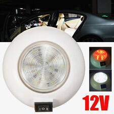 LED 12V Dual White Red RV Caravan Trailer Boat Interior Ceiling Dome Light