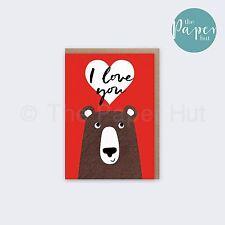 Bear Greetings Card | I Love You