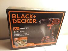 Black & Decker Drill/Driver 20V Lithium w/LED Light, Model BDCDD120C
