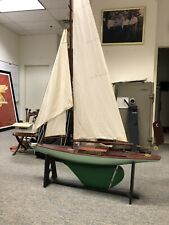 Antique Pond Racer Sail Boat Cir 1940