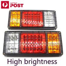 2 LED Tail Lights 24V Brake Reverse 40LED Trailer Truck UTE Caravan PAIR