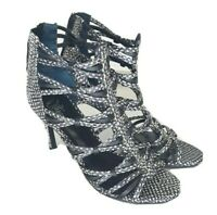 Wittner Black Snake Print Leather High Heels Size EU 38 Womens Party shoes