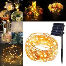 10M 100LED Solar Lichterkette Party Lichtschlauch Weihnachtsdeko 8Mode warmweiß