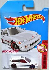 HOT WHEELS 2017 THEN AND NOW '90 HONDA CIVIC EF #2/10 WHITE BAD CARD