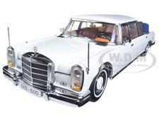 1966 MERCEDES 600 LANDAULET LIMOUSINE WHITE 1/18 DIECAST MODEL BY SUNSTAR 2301