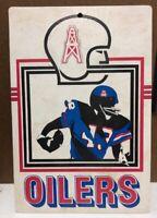 Rare Vintage 1974 Houston Oilers Cardboard Sign NFL FLEER BIG 8x11.5