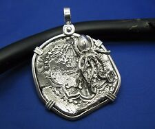Large Mens Octopus Sterling Silver Nautical Pirate Jewelry Treasure Coin Pendant