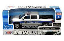 Motormax 1:24 2017 Chevrolet Silverado Police Pickup Truck Diecast Car 76966