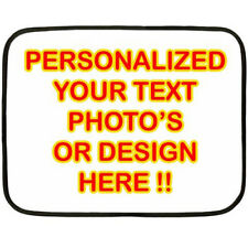 New PERSONALIZED CUSTOM YOUR DESIGN PHOTO for Mini Fleece Blanket Free Shipping