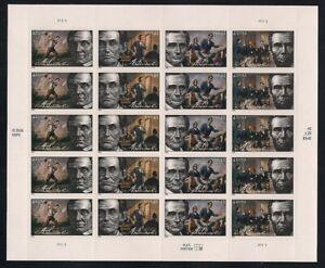 Abraham Lincoln Mint Sheet of Twenty 42 Cent Postage Stamps Scott 4380-83