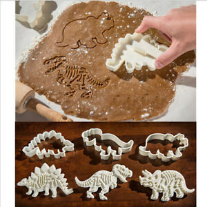 6PC/Set Dinosaur Cookie Cutter Cake Mold Biscuit Pastry Fondant Cake DIY Mould