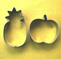 Fruit Cookie Cutter pineapple Apple Party Baking Pastry Stainless Steel Set