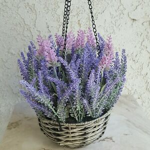 Hanging  Purple Floral Lavender arrangement Centerpiece  Spring Decor Quality