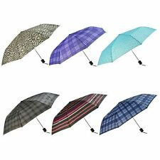 Mini Pocket Umbrella Small Compact Light Strong Portable Assorted Colour Print