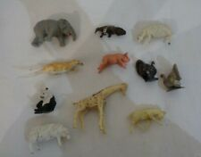 11 X Animal action figure toy plastic 5cm Vintage Made in England