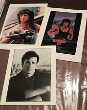 Sylvester Stallone Signed Photos Rambo Autograph Rare A4 And 8x10