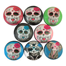 Set of 8 Sugar Skull Animals Print Cabinet Knobs